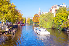 City scenic from Amsterdam in Netherlands in fall Stock Photography