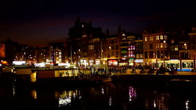 City scenic from Amsterdam Netherlands stock video footage