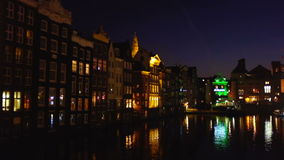 City scenic from Amsterdam Netherlands stock footage