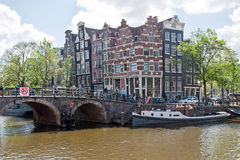 City scenic in Amsterdam Netherlands at the Prinsengracht Royalty Free Stock Photography