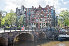 City scenic in Amsterdam Netherlands at the Prinsengracht Stock Photography