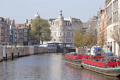 City scenic in Amsterdam the Netherlands Royalty Free Stock Photography