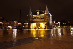 City scenic from Amsterdam at the Nieuwmarkt in the Netherlands Stock Photos