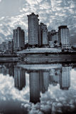 City scenic with building reflection Royalty Free Stock Photo