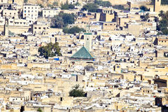 City scenic from the city Fes in Morocco Stock Photos