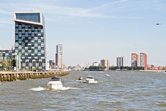 City scenic from Rotterdam in the Netherlands Stock Images