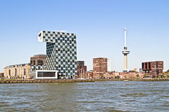 City scenic from Rotterdam in the Netherlands Royalty Free Stock Photos