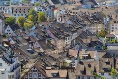 City  Schaffhausen, Switzerland. Historical center . Top view Stock Image