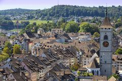 City  Schaffhausen, Switzerland. Historical center of town Royalty Free Stock Images