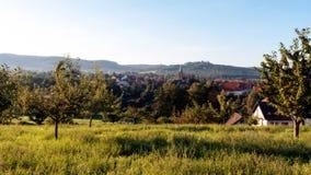 City of Scheßlitz. Landscape shot of the City of Scheßlitz in August Stock Image