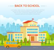 City school building with place for text - modern vector illustration Stock Photography