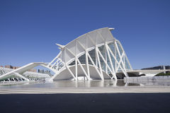 Hemisferic, a planetary in the City of Arts and Scienceof city of science in valencia Stock Photos