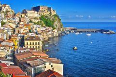 The city of Scilla in the Province of Reggio Calabria, Italy.  Stock Images