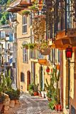 The city of Scilla in the Province of Reggio Calabria, Italy.  royalty free stock photography