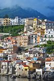 The city of Scilla in the Province of Reggio Calabria, Italy.  Royalty Free Stock Photos