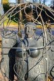 The city sculpture Bird Sirin Stock Images