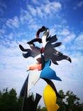 City sculpture in wuhu shenshan garden Stock Photo