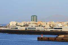 City on sea coast. Arrecife, Lanzarote, Spain Royalty Free Stock Photo
