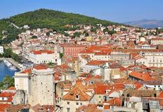City at the sea. City at the mediterranean sea, Croatia Royalty Free Stock Photography