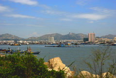 The city of sea side. This is a city at side of sea in China Royalty Free Stock Photography