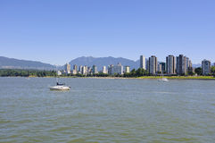 City by sea water, Downtown Vancouver BC Stock Photography
