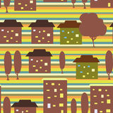 City seamless pattern Stock Images
