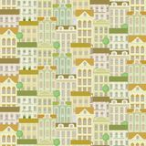 City seamless pattern with buildings Royalty Free Stock Photo
