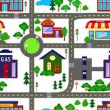 City seamless pattern Stock Image