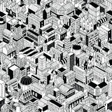City Seamless Pattern Isometric - Large vector illustration