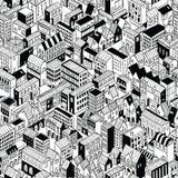 City Seamless Pattern Isometric - Medium Royalty Free Stock Photo