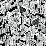 City Seamless Pattern Isometric - Small stock illustration