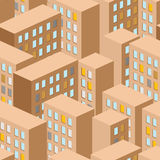 City seamless pattern. Vector city panorama. background building Royalty Free Stock Images