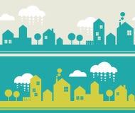 City seamless pattern. Stock Image