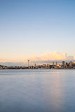 City Of Seattle Golden Hour Cityscape Royalty Free Stock Image