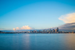 City Of Seattle Golden Hour Cityscape Royalty Free Stock Photo
