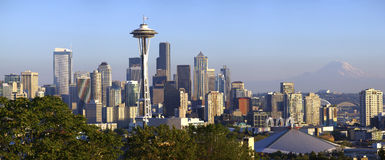 City of Seattle panoramic view. Stock Images