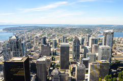 City of Seattle. View of Seattle looking north from the 76th floor of the Columbia Center Stock Image