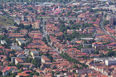 City seen from above. Brasov city view seen from above, Romania Stock Images