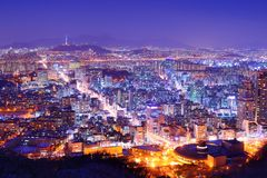 City of Seoul Korea Royalty Free Stock Photo