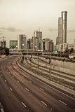 City sepia toned Royalty Free Stock Photo