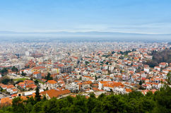 City of Serres city at north Greece royalty free stock photo