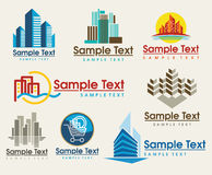 City set. The set of city skyline signs Royalty Free Stock Image