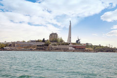 City Sevastopol. Obelisk in honour a city - hero Royalty Free Stock Images
