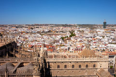City of Seville Cityscape in Spain Stock Image