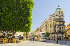 City of Seville in Spain Royalty Free Stock Images