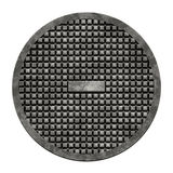 City sewer cover (Manhole serie). This is an illustration of a sewer cover (serie Stock Photo