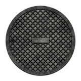 City sewer cover (Manhole serie). This is an illustration of a sewer cover (serie Stock Images