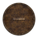 City sewer cover (Manhole serie) Royalty Free Stock Image