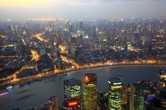 City of Shanghai at dusk, China Stock Images