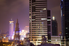 City Shanghai at night Royalty Free Stock Image